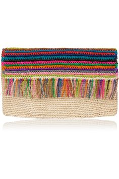 SENSI STUDIO Woven toquilla straw clutch  €105.00 http://www.net-a-porter.com/products/607943