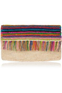 SENSI STUDIO Woven toquilla straw clutch  €105.00 http://www.net-a-porter.com/products/607943