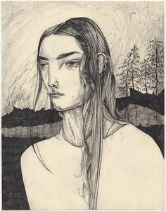 Maria herreros 2013 http://mariaherreros.tumblr.com/post/68561756220/mortland-drawing-graphite-on-cotton-paper