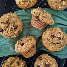 Remember last week...stomach flu, 🤢 didn't want to eat anything but a banana chocolate chip muffin 🍌🍫which didn't exist, so we experimented and then we teased a picture of what magically happened! Well, here's the recipe for those babies ~ hopefully you've let some bananas get nice and spotted so you can make these for the long holiday weekend! They freeze well and are super easy to mix up!! #winning 🙌💕 - Made with our favorites of course ~ @ottos_cassava_flour ~ @redmondrealsalt…