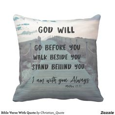 Bible Verse With Quote Pillow #pillows #faith