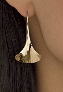 Ginkgo+Drop+Earrings by Stephen+LeBlanc: Gold+or+Silver+Earrings available at www.artfulhome.com