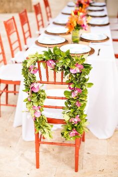 Tropical Baby Shower Guest of Honor Chair - Orchid Lei