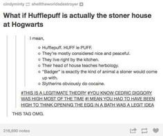 """The Slytherin crew and Argus Filch are obviously checking out Harry's bottom, what else were they doing?   37 Times Tumblr Made You Rethink Everything About """"Harry Potter"""""""