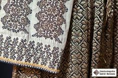 Romanian blouse detail. Gabriel Boriceanu collection Folk Embroidery, Learn Embroidery, Embroidery Patterns, Folk Costume, Textiles, Moldova, Traditional, Bulgaria, Modern