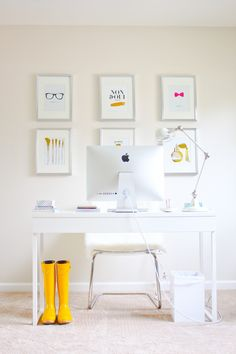 The Chic Home Office of Olia Majd - Gold Makeup brushes, Chanel Perfume Bottle & Vintage Perfume Bottle