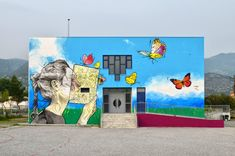 Street art in Volos Greece Mural Painting, Mural Art, Parents Association, School Murals, Art Articles, Primary School, Mount Rushmore, Greece, Graffiti