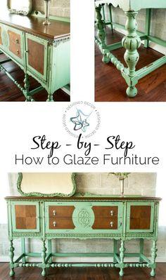 Step-by-step how to glaze furniture- online workshop-Designed Decor