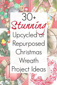 Upcycling and repurposing items as Christmas wreaths is one of my favorite holiday crafts to work on. I just love having something unusual and festive on our front door during the Christmas season. #christmaswreath #wreathmaking #wreathideas #xmaswreath #frontdoordecor #holidaywreaths #diywreath #diychristmaswreath #diyholiday #diychristmasdecorations #wreathideas #vintagechristmas #junk Wreath Crafts, Diy Wreath, Wreath Ideas, Wreath Making, Vintage Christmas, Christmas Crafts, Christmas Decorations, Christmas Ideas, Holiday Decorating