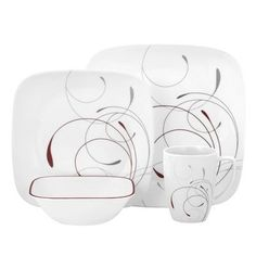 Features:  -Set includes 4 of each: Dinner plates, luncheon plates, 22-oz soup / cereal bowls, 12-oz porcelain mugs .  -Splendor collection.  -Break and chip resistance for carefree durability .  Colo