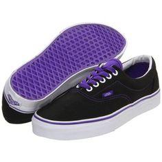 black and purple vans shoes