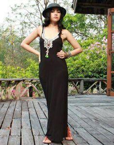 Elegant boho - Black Long Boho Dress, $72.00 (http://www.bluseagal.com/black-long-boho-dress/)