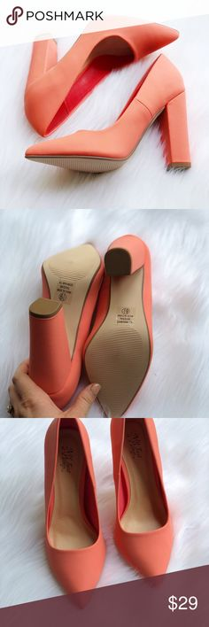 25f5fce57 Not Just a Pump Coral Square High Heels NWOT These gorgeous heels are in  new condition