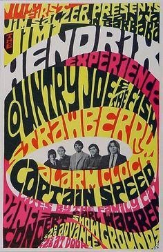 Jimi Hendrix Experience - Country Joe & The Fish - Strawberry Alarm Clock - Captain Speed