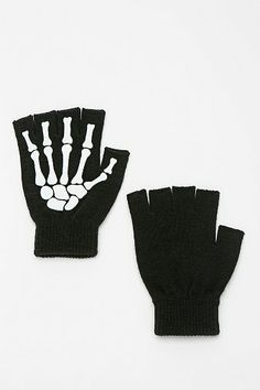 Glow-In-The-Dark Skeleton Fingerless Glove