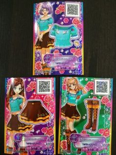 "Trading card of Japanese Animation ""AIKATSU STARS 2nd"" Normal 3 cards ramdom set"