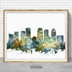 Tampa Print, Tampa Skyline, Tampa Florida, Office Wall Decor, City Skyline Prints, Skyline Art, Cityscape Art, ArtPrintZone #ArtPrint #CityArtPrint #TampaPrint #CitySkylineArt #OfficeDecoration