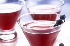 Blueberry Cosmo  2 ounces Ocean Spray® Blueberry Juice Cocktail, chilled  1 1/2 ounces vodka  1/2 ounce orange liqueur  1/2 ounce lime juice  1/4 teaspoon vermouth, if desired