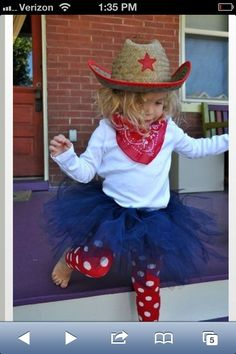 Toddler Cow Girl Costume w/tutu