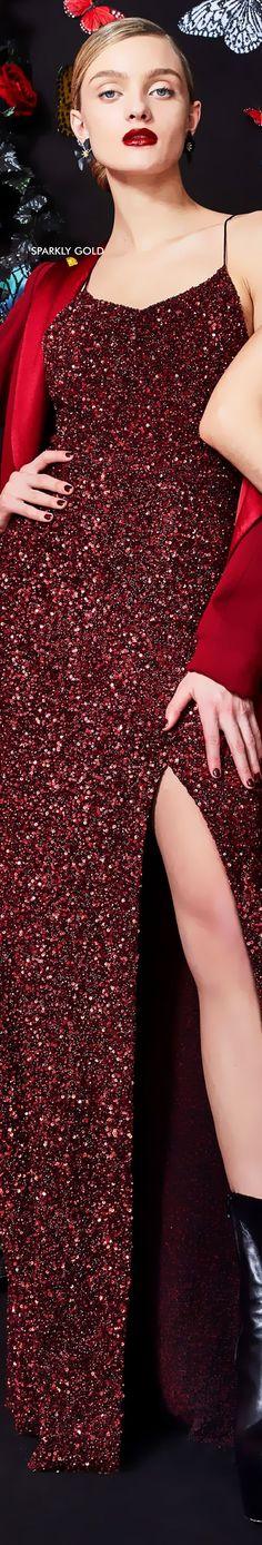 High Fashion Dresses, Fashion Outfits, Dark Red Dresses, Azzaro, Glamour, Alice Olivia, Balmain, Alexander Mcqueen, Burberry