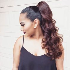Curly, High Ponytail Hairstyle