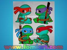 Las Tortugas Ninja Baby, Fomiart