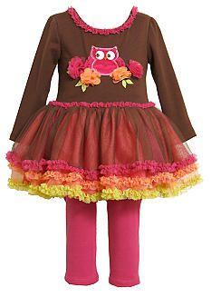 Bonnie Jean® Owl Tutu Set Toddler Girls #belk #kids