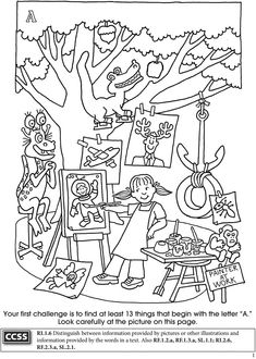 BOOST Alphabet Search Coloring Activity Book 4 Sample Pages