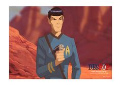 Retro Spock by DESPOP.deviantart.com on @DeviantArt