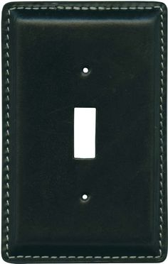 Black Oiled Leather Switch Plates, Outlet Covers, Wallplates