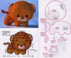 DIY Kawaii Felt Leopard with FREE Sewing Pattern / Template