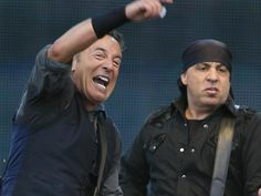 Goffertpark Nijmegen, June 22nd 2013. Bruce Springsteen and Steven Van Zandt on guitar. I didn't come as far as this beautiful picture, but: magnificent concert and best sound I ever heard at festivals!