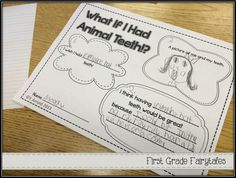 First Grade Fairytales: What if YOU Had Animal Teeth? Hair?