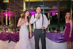 Alta Vista Country Club Wedding Reception, Purple