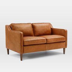 Hamilton Leather 3 Seater Sofa, Sienna
