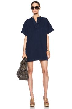 Image 5 of MiH Jeans T3 Cotton Dress in Indy Indigo