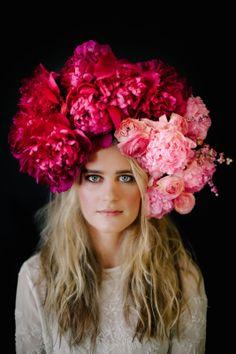 La Boheme: floral headpiece by Anna Korkobcova and Ivanka Matsuba