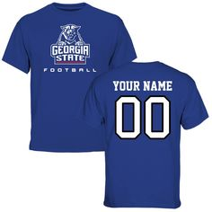 Georgia State Panthers Personalized Football T-Shirt - Royal