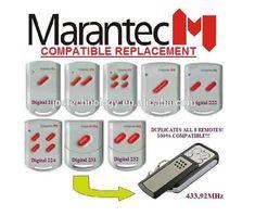 MARANTEC digitale 211/212/214/221/222/224/231/232 universele afstandsbediening vervanging Access Control, Usb Flash Drive, Usb Drive