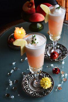 飲み残し白ワインで簡単ひんやり大人おやつ 桃サングリアとカルピスりんご 二層のフローズンカクテル #Cocktail|レシピブログ