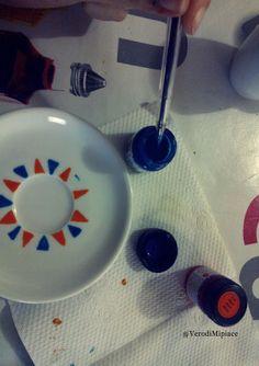 MipiacequandoDIY: tazzine decorate a mano