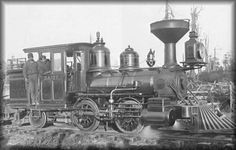 "Caspar Lumber Company   ""Daisy""  An 0-4-2 steam locomotive. Built 1836.  Used for redwood logging."