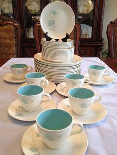 Taylor Smith & Taylor Ever Yours Boutonniere 46 Pieces~Dinner Plates~Cups~Saucer