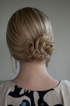 Day 1 of the Hair Romance Challenge - Simple Twist & Pin Side Chignon