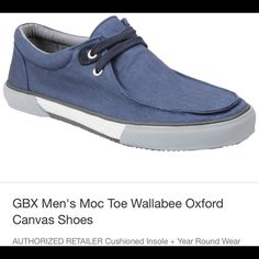 GBX Men's Moc Toe Wallabee Oxford Canvas Shoes GBX Men's Moc Toe Wallabee Oxford Canvas Shoes GBX Men's Moc Toe Wallabee Oxford Canvas Shoes   Shoes Moccasins