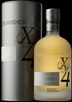 """In 1695 Martin Martin, a Hebridean traveller wrote of an ancient powerful spirit which translates from the Gaelic as """"perilous whisky"""". He was told by the natives: """"one sip and you live forever; two sips and you go blind; three sips and you expire on the spot"""". Humbly, and in the typical Bruichladdich spirit of adventure, we have recreated this legendary, quadruple-distilled dram; the extra distillation brings an incredible purity and a powerful ability to extract flavour from the oak cask. Whiskey Or Whisky, Whisky Single Malt, Whiskey Drinks, Scotch Whiskey, Whiskey Bottle, Alcohol Bottles, Wine And Spirits, Distillery, Alcoholic Drinks"""