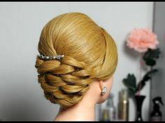 ▶ Вечерняя, свадебная прическа на длинные волосы. Wedding prom hairstyle for long hair - YouTube