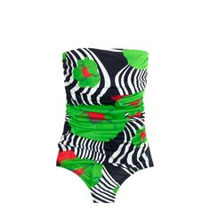 J.Crew - Ruched bandeau one-piece swimsuit in Ratti