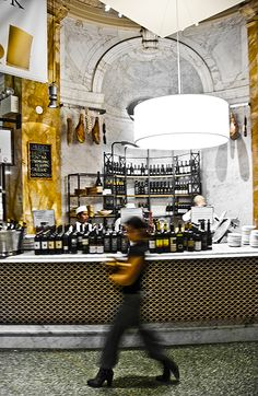 Eataly 200 5th Avenue, NY, NY .....lots of little places to eat and a gourmet grocery store all in one