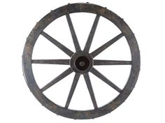 Black Wooden Wagon Wheel Wall Decor